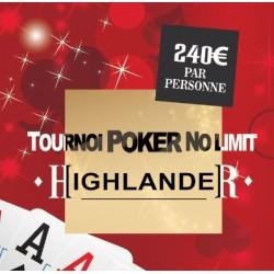 """Pochettes Cadeau """"Tournoi Poker Highlander"""""""