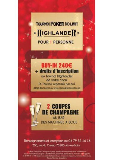 Tournoi Poker Highlander